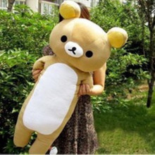 Large Rilakkuma pillow, sleeping pillow elongated easily bear plush toy doll cute boyfriend pillow