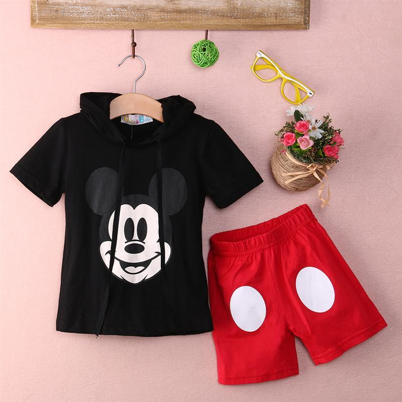 Baby Boy Cartoon clothing 2016 Summer Girls Kids Minnie Mouse Clothes Tops+Dress tutu Pants Outfit Suit<br><br>Aliexpress