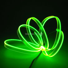 Promotional 12V 2.3mm skirt Cold Light Durable 5Meter Lime Green Glowing Led Strip Super Bright Light Safety EL wire Sewable Tag
