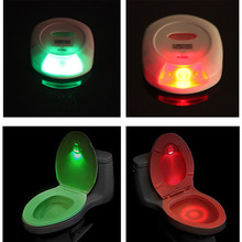 New Arrival 1pc Bathroom Home LED Toilet Light Sensor Night Motion Sensor Night Light Red &Green(China)