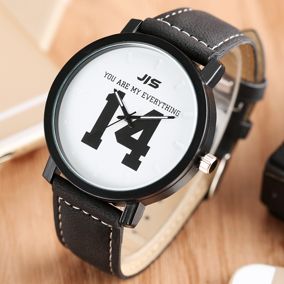 YOU ARE MY EVERYTHING Series Men Watch JIS Unique Number 1314 Quartz Wristwatch Young People Fashion Dress Clock Male Ulzzang 2018 (21)
