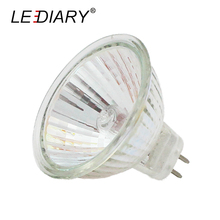 LEDIARY 10PCS Super Bright Dimmable MR11 GU5.3 Halogen Spot Light 12V/220V 35W/50W Halogen Bulbs Cup Shape Lamp Clear Glass(China)