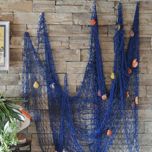 Home Decoration Nautical Decorative 2M x 1M Fishing Net Seaside Beach Shell Party Door Wall Decoration