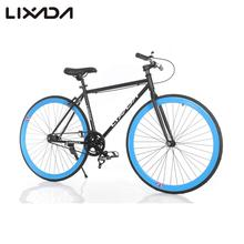 "Lixada High-configuration 26"" Carbon Steel Single Speed Bike Fixed Gear Bicycle Fixed Bike Rear caliper brake"