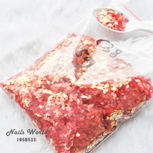 50g Bulk Nail Art Decorations Rhombic Paillette Abalone Gold Red Sequins Glitters Powder Tips Nail Art Decoration C38-50g