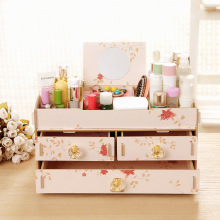 For the new super 36 manufacturers show Seoul Korean cosmetics cosmetic box desktop DIY wooden box