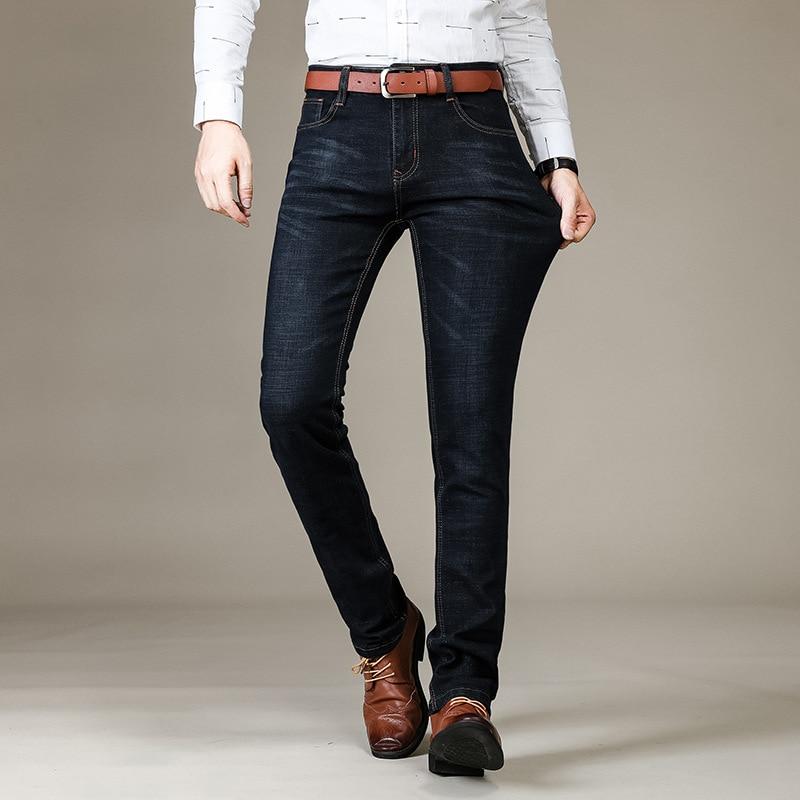 Markless Jeans Men 2018 Autumn Casual Straight Denim Jeans Mens Thin Cotton  Denim Blue Pants jeans homme NZA6008M f22e12fd9281