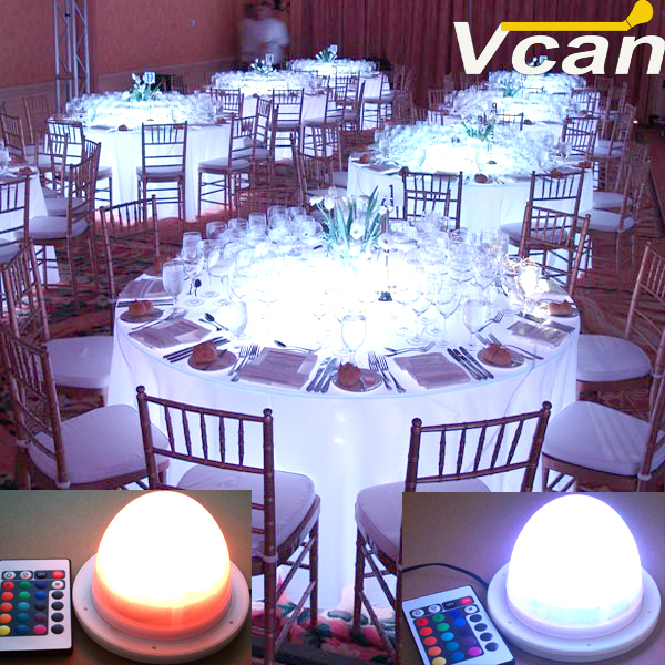 10 Pieces Hot Sale Bright Remote Control Led Light For Hotel Restaurant<br>