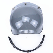 Professional 3-snap open face helmet visor vintage motorcycle helmet bubble shield Harley Helmet Extra Helmet Windshield(China)