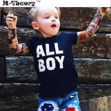M-theory 1pcs Kid Size Biker Sleeve Arm Stockings Leggings Elastic Rocker 3D Tattoos Henna Temporary Body Art Makeup Tools