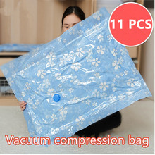 Vacuum  Bag+Pump vacuum clothes storage bag quilt  Compression bag storage Space bag Moisture-proof Two colors  Free shipping