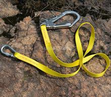 Outdoor Climbing Safety Harness Belt Lanyard With Carabiner Buckle
