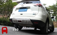 Steel Front + Rear Bumper Protector Skid Plate For Nissan Rogue X-Trail T32 2014 2015 2016(China)