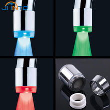 LED Light 3 Color Changing Water Faucet Glow Shower Temperature Sensor Kitchen Bathroom Water Diffuser Aerators Tap Spouts(China)