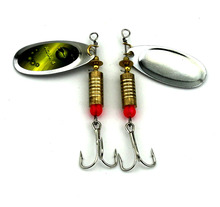 HENGJIA 1pcs Spoon Fishing Lure 7cm 8.8g Hard Fishing Spoon Lure Metal Jigging Lure Baits Spinnerbait Fishing Tackle