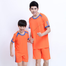 Adsmoney Men/Boy Tennis shirt With Shorts Outdoor sports workout Running Solid color badminton male t shirts Short-sleeve tees(China)