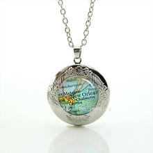 2017 Collier Maxi Necklace Collares Perfect Gifts Interesting New Orleans Map Usa City Locket Necklace Jewelry For Friend T746(China)
