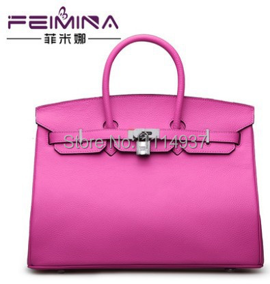 Free shipping Lychee genuine leather womens handbag first layer of cowhide platinum bag 2014 bags<br><br>Aliexpress