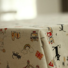 Black Cat table cloth Cotton/Linen table covering dining table decoration Rainbow tablecloth(China)
