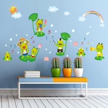 Frogs Bathroom Wall Sticker Waterproof Home Decor Pool Wall Decal Toilet Mural for Baby Kids Room House Vinyl DIY xy3016(China)