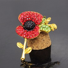 popular united kingdom remember brooch christmas brooch british royal navy pins red flower Poppies design jewelry 0114
