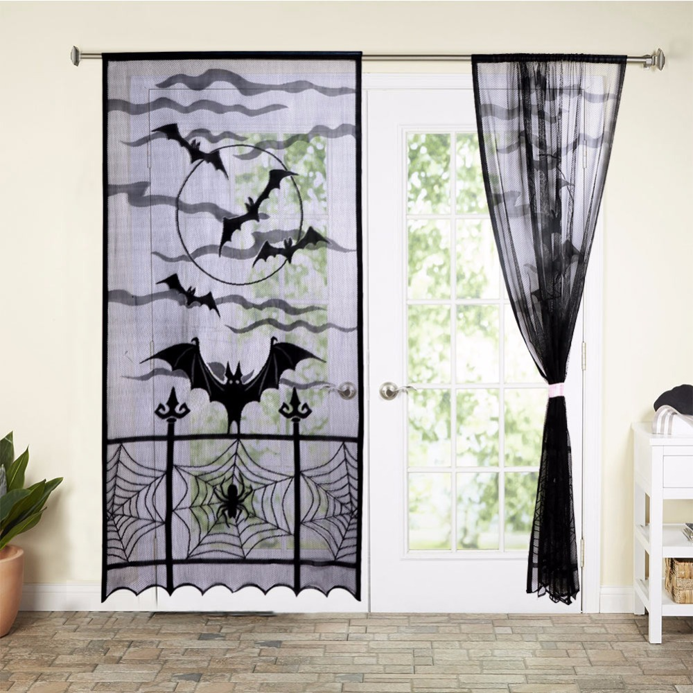 Ourwarm 1pc 40x84 Inch Decorative Door Curtains Home Decor Or Window Curtain Party Decoration With Bats In Diy Decorations From
