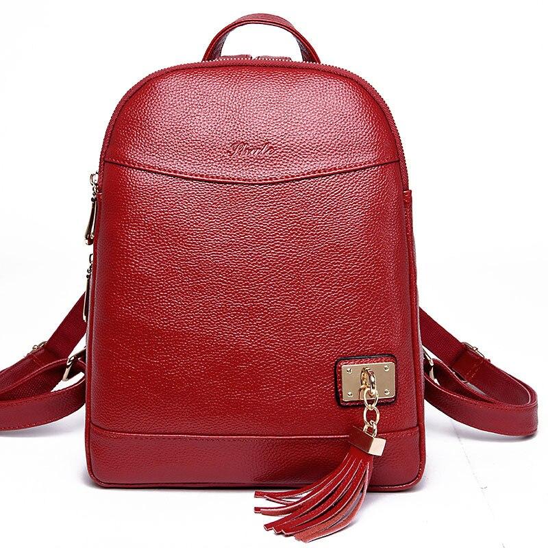 Women Backpack Fashion Causal Women Bag High Quality Female Shoulder Bag Leather School Bags Backpacks For Teenage Girls Mochila<br>