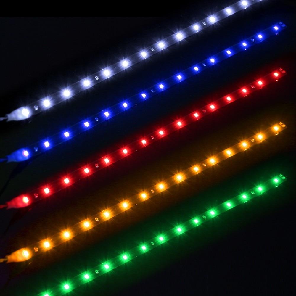 Amazoncom Car LED Strip Light Wsiiroon 4pcs 48 LED