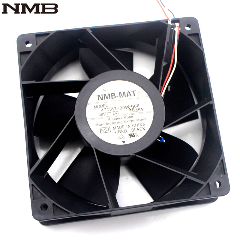Original  NMB 4715VL-09W-B66 12038 120*120*38mm 48V 0.55 heatsink cooling fan<br>