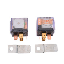 2PCS 5PIN Relays 12V 80A 1NC+1NO SPDT 5P Green Lamp Automotive Car Relay Sockets 5 Pin Mount Series Relays(China)