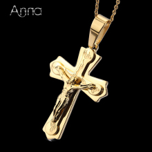 A&N Necklace Pendant Brand Necklace Silver Gold Color Jewelry Antique Cross Crucifix Jesus Cross Pendant Necklaces For Women Men(China)