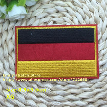 New arrival 10 pcs flags series black red yellow embroidered patch XG iron on Motif Applique Fabric cloth embroidery accessory(China)