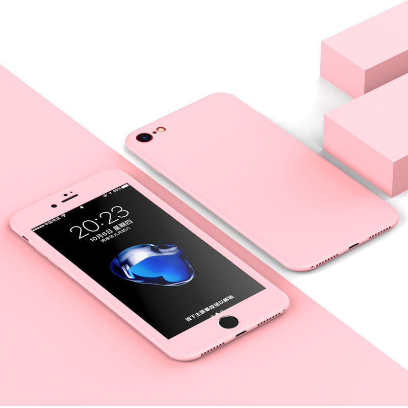 Luxury Soft TPU 360 Full Cover Cases For iPhone 9 X 8 7 6 6S Case 5 5S SE Cover Cases For iPhone 6 7 8 9 Plus case 6.1 6.5 inch (23)