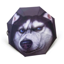 3D Pets Oil Painting Pattern Women Kids Men Fashion Creative Folding Sunny Rainy UV Umbrella Full Automatic Windproof Paraguas(China)