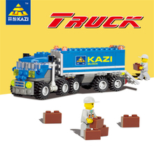KAZI Bricks Blocks Truck Educational Building Blocks DIY Kids Toys Gift Block Compatible with lego