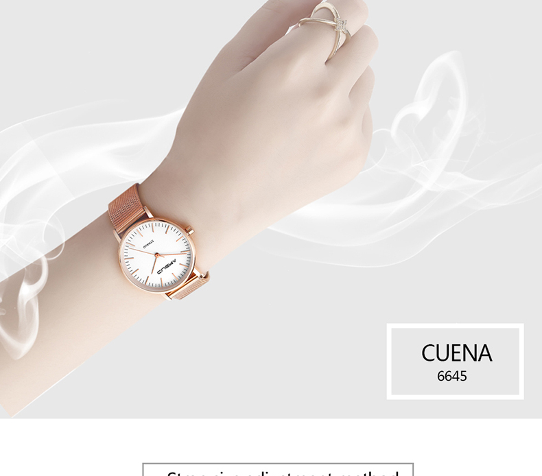 CUENA Simple Fashion Women Watch Ladies Watches Top Brand Luxury Quartz Wristwatches Stainless Steel Relogio Feminino Relojes