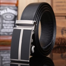 Business strap mens belt luxury 2017 new hot designer high quality fiber leather big size 160 cm 150 140 automatic buckle formal