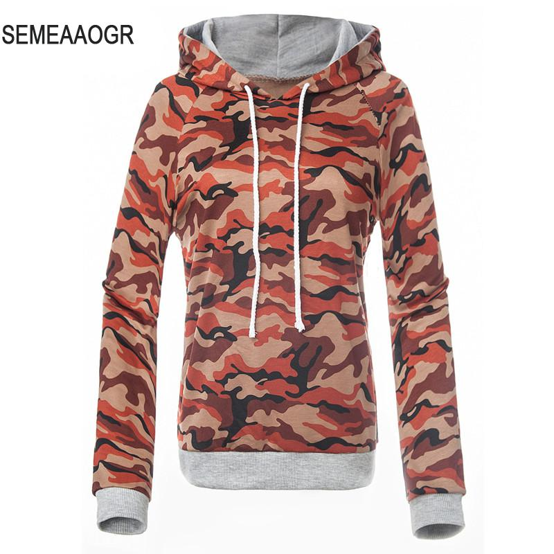 Women Hoodies Autumn Winter Camo Army Sweatshirt Long Casual Pullovers  Geometric Stitching Casaco Moleton Feminino Harajuku - Compare Prices On Camo Hoodie Women- Online Shopping/Buy Low Price