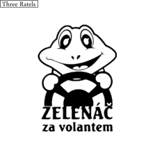 Three Ratels TZ-088 11*15cm 2 pieces I AM A BEGINNER warning in Czech driving frog vinyl car sticker decal jdm auto car stickers