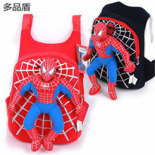 Fashion Brand Kids Baby Boy Girl Cartoon Spiderman Stuffed Toy Backpack Schoolbag Toddler Shoulder Bag