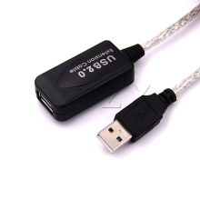 Hot Selling 5 meters USB 2.0 Male to Female Cable Active Repeater USB Extension Extender Cable Adapter(China)