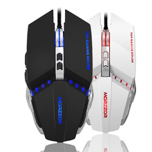 MORZZOR Wired Gaming Mouse USB Optical LED Lights Mouse Gamer 3200 DPI with 7 Button for Laptop PC Desktop Computer Game