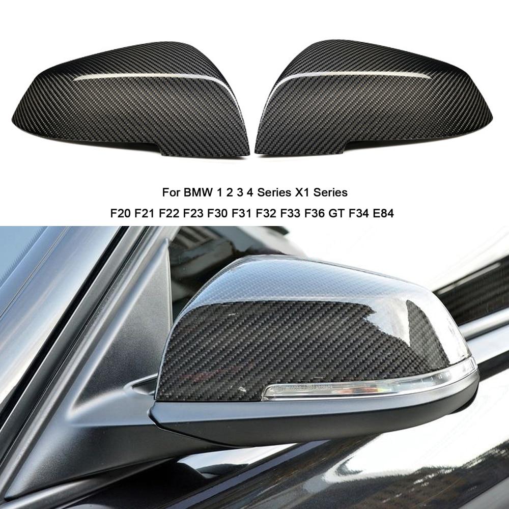 For BMW F31 F20 F21 F22 F23 F30 F33 F34 X1 E84 1 2 3 4 Carbon Fiber Mirror Caps