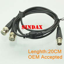 Sindax BNC female to Y type 2 BNC male Splitter Combiner cable pigtail 3FT 1F2M Drop Shipping(China)