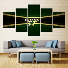 5 Pieces Dallas Stars Sports Modern Abstract Home Wall Decor Canvas Modular Picture Art HD Print Painting Canvas Art Frame