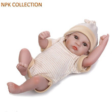 NPKCOLLECTION Mini Silicone Baby Dolls Newborn Babies Real Dolls for Girls Children,22CM Mini Baby Reborn Bonecas Toys for Kids