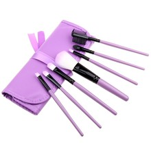 7pcs Professional Makeup Brushes Set PU Leather Bag Make up Tools Eyeshadow cosmetic Kit foundation brush G8(China)