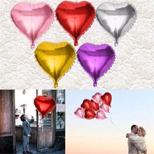 3PCS Wedding Balloon Supersize Large Red Heart Shap Foil Air Balloons Wedding Party Say Love Decorations Marriage Ballon