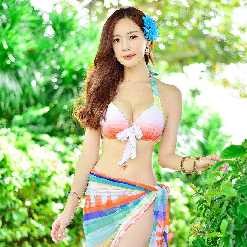 New swimsuit lady sexy split push high bikini swimwear with three - piece swimwear swimwear<br><br>Aliexpress