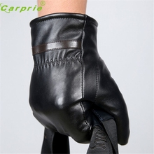 Male Winter Gloves Driving Motorcycle Men Warm Cashmere Leather Waterproof Dependable New Fashion Ap7 dropshipping(China)